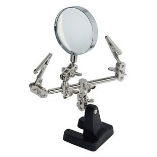Third-hand with magnifying glass